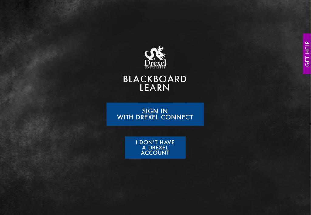 Blackboard Learn Drexel Login Page